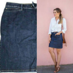 Fashion Bug Denim Jean Skirt Size 20 Side Zipper